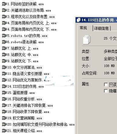 14年黑帽seo技术培训教程 基础入门系列 21节