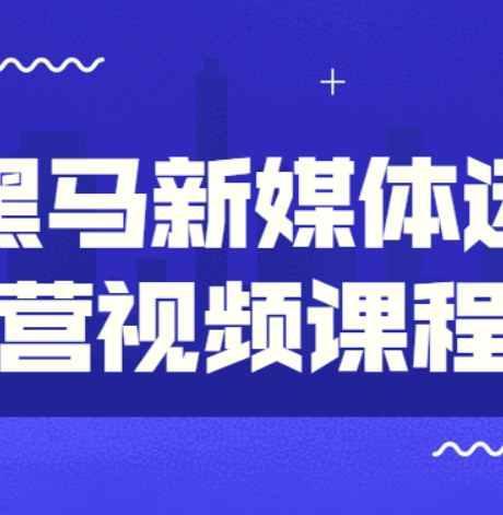黑马新媒体运营培训班视频课程17G