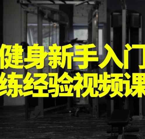 健身新手入门训练及健身计划安排视频课程