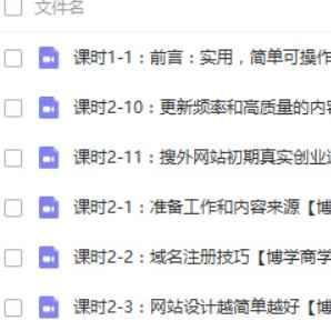 搜外夫唯网站seo优化培训视频教程