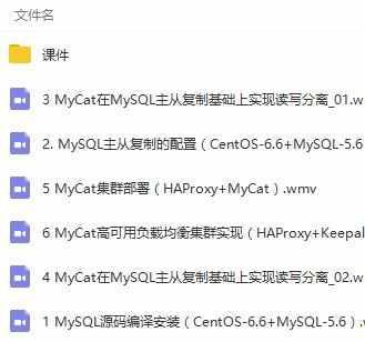 MySQL高可用读写分离集群项目案例实战视频教程